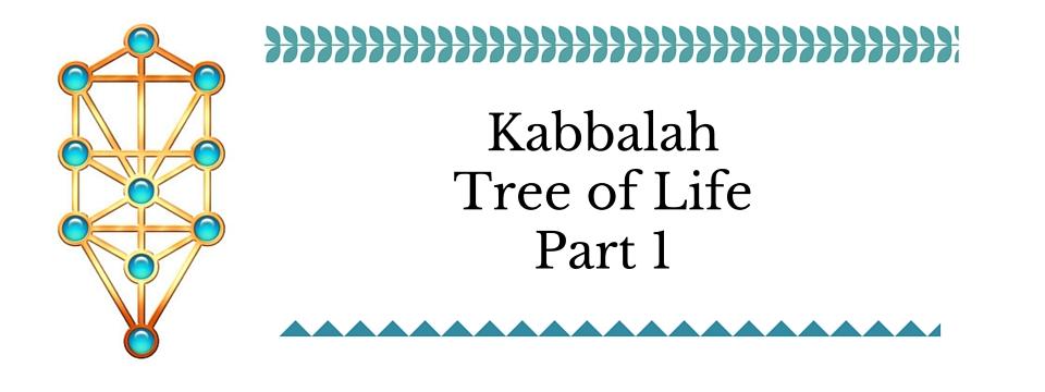 Kabbalah Tree of Life Pt 1 – The Sephirot